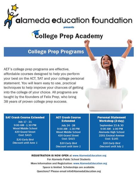 Test prep sessions available through AEF